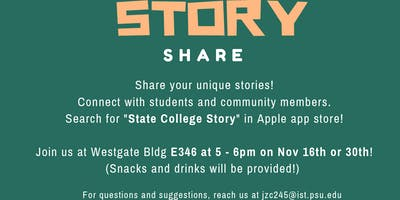 State College Story Sharing App Workshop