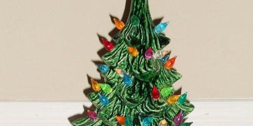 lighted large 13' ceramic christmas tree