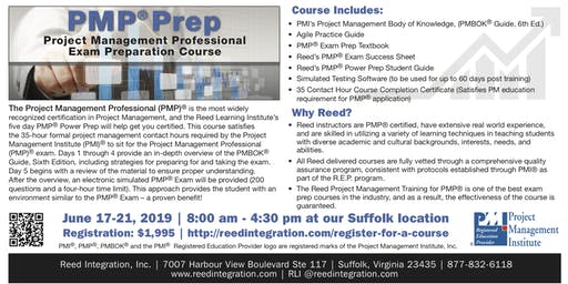 PMP Power Prep - June 17-21, 2019 - Suffolk, VA