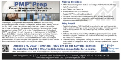 PMP Power Prep - August 5-9, 2019 - Suffolk, VA