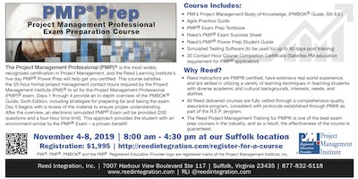 PMP Power Prep - November 4-8, 2019 - Suffolk, VA