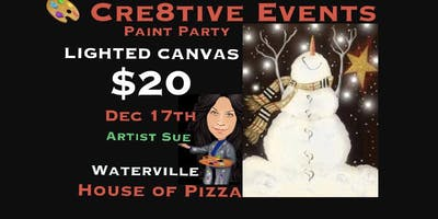 $20 Paint Night-LIGHTED CANVAS@WHOP