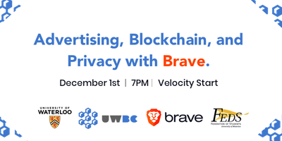 Advertising, Blockchain, and Privacy with Brave | UW Blockchain Club
