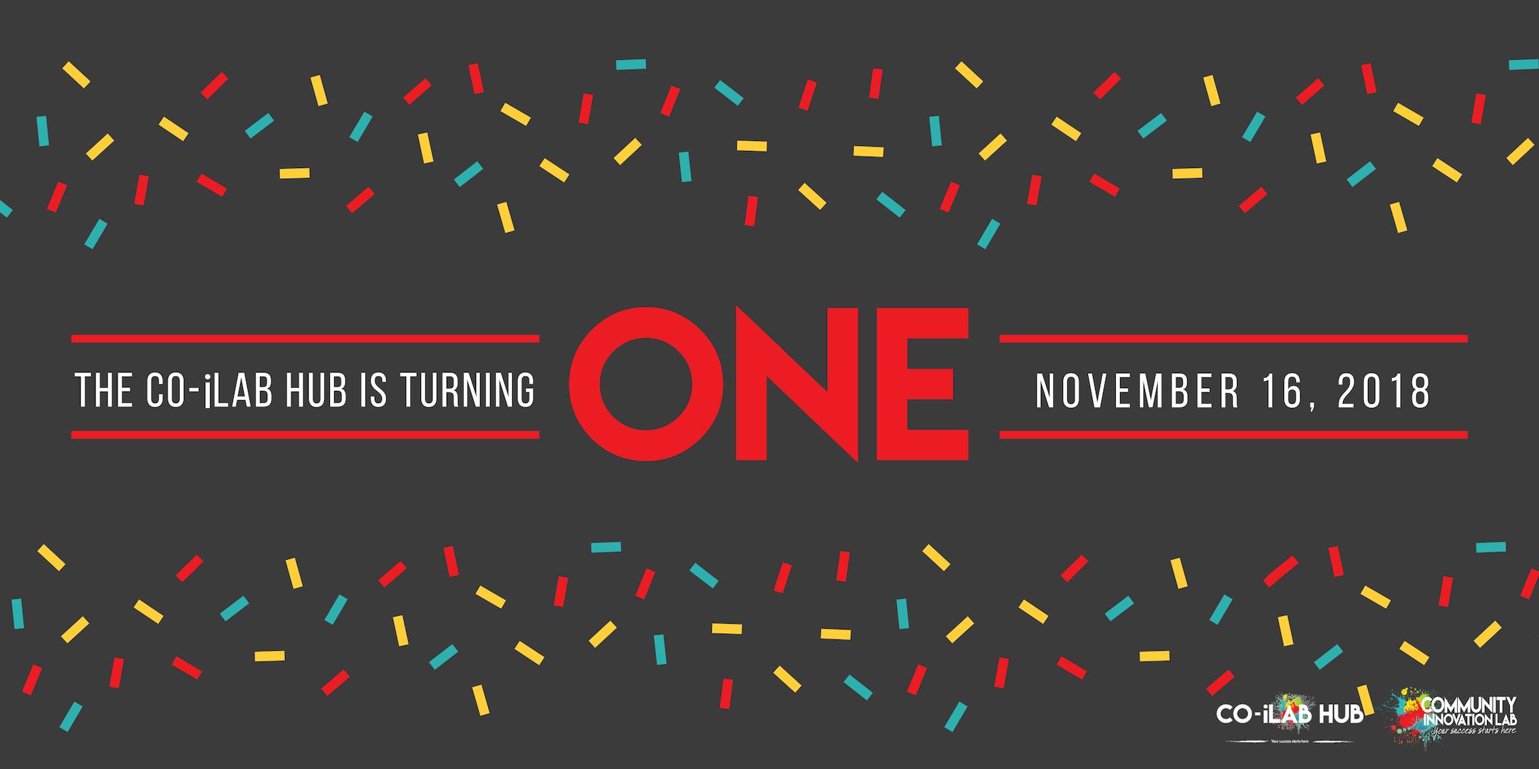 Co-iLab Hub 1 Year Anniversary!