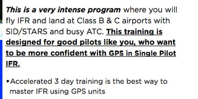 3 Day IFR Mastery Program - May/2019