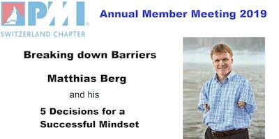 Breaking Down Barriers by Matthias Berg at PMI Switzerland\