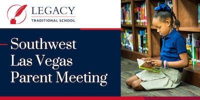SW Las Vegas Parent Meeting 12/13 @Cadence - 5:00 p.m.