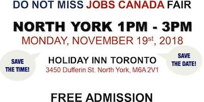 FREE: North York Job Fair – November 19th, 2018