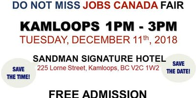 Free: Kamloops Job Fair – December 11th, 2018