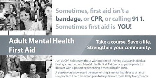 Adult Mental Health First Aid November 13, 2019
