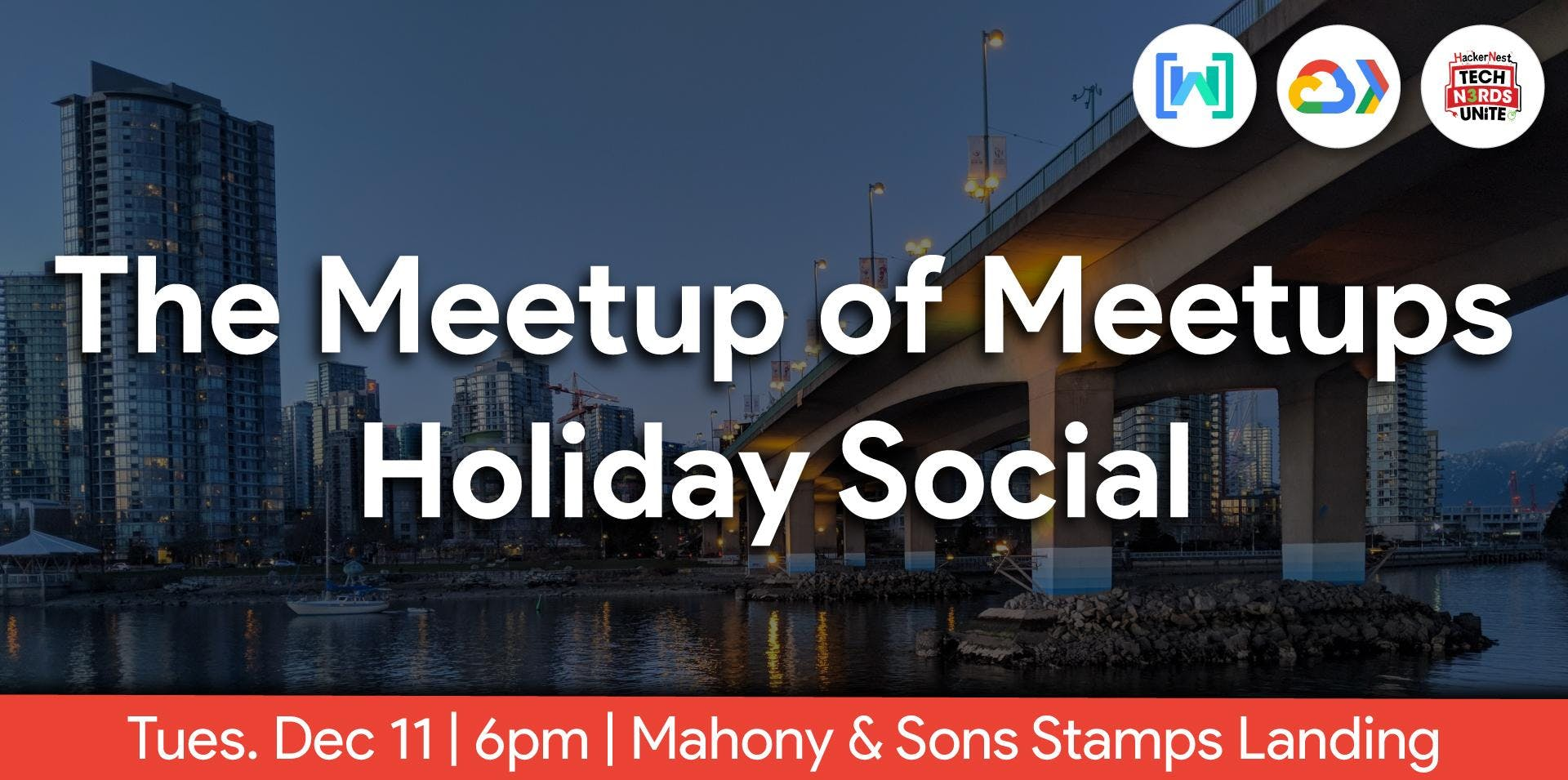 The Meetup of Meetups, Holiday Social