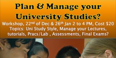 Plan & Manage Your University Studies