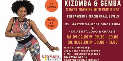 Kizomba & Semba Training with Certificat by Master Vanessa Ginga Pura