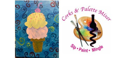 Paint & Juice Ice cream scoops (all ages)