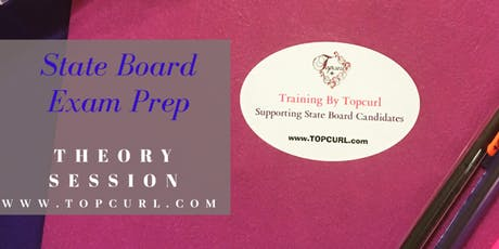Cosmetology State Board Theory Exam Prep 1 on 1 Refresher Session  tickets
