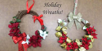 Holiday Wreaths Dec 3rd - Studio