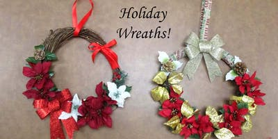 Holiday Wreaths Dec 12th - Studio