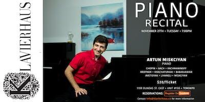 Artun Miskciyan - Piano Recital