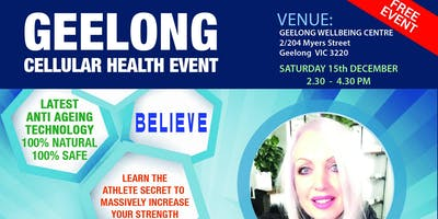 Geelong Cellular Health Event- Transforming your life at every level