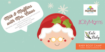 Milk + Muffins with Mrs. Claus {FREE!}
