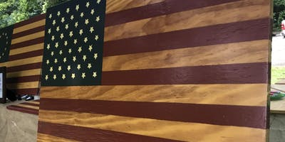 Wooden Flag Painting Workshop on 11/23/2018