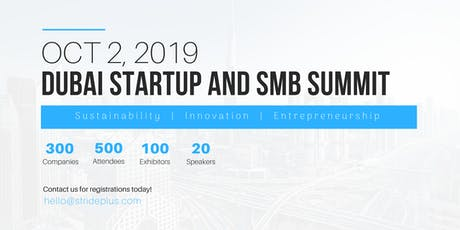 Dubai Startup and SMB Summit 2019 tickets