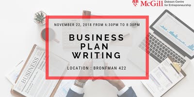 McGill Business Plan Writing Workshop