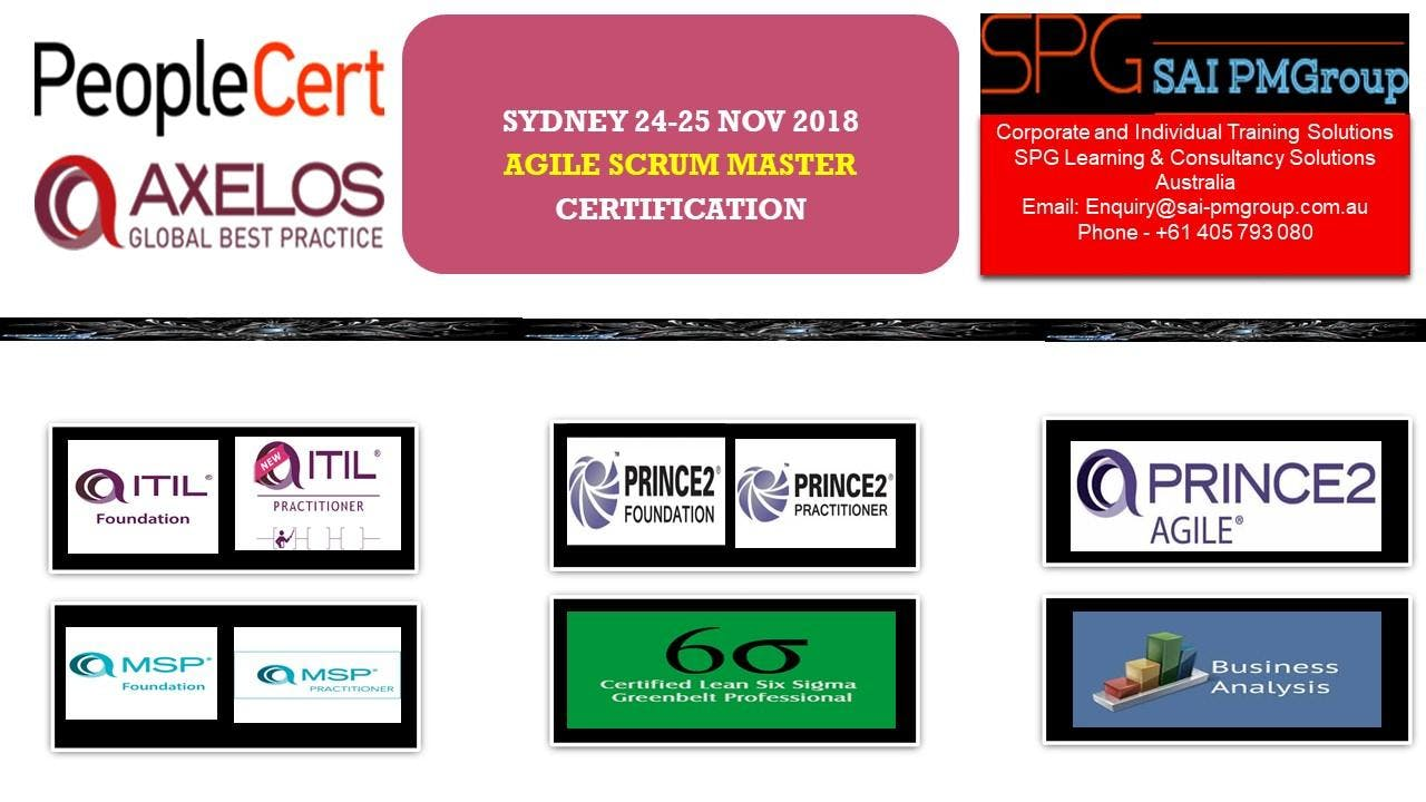 Agile Scrum Master Certification At Sydney Sydney