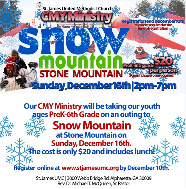 Sjumc Cmy Ministries Snow Mountain Winter Outing Registration Only