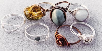 Create Artisan Wire Wrapped Rings in 2-hour  Jewelry Making Workshop