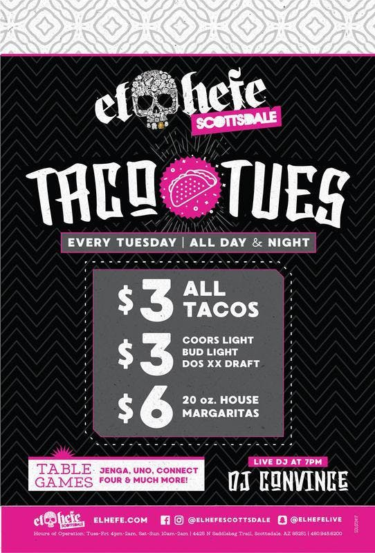 Taco Tuesdays at El Hefe Free Guestlist - 1/2