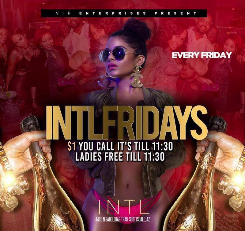INTL Fridays at INTL Free Guestlist - 12/28/2018