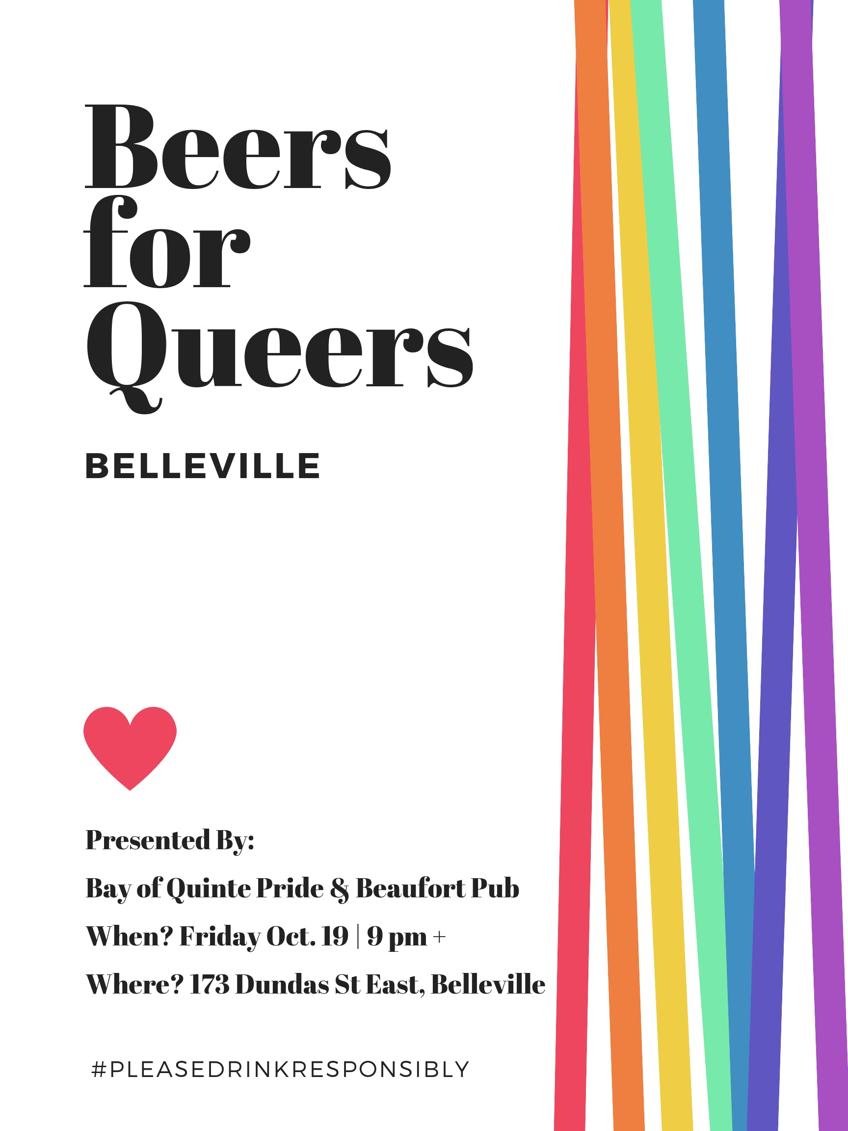 Beers for Queers Belleville - Friday Nov. 16