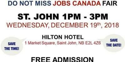 Free: St-John Job Fair – December 19, 2018