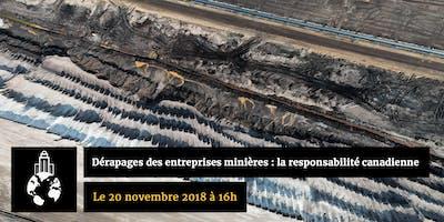 Dérapages des entreprises minières : la responsabilité canadienne, de l'État au citoyen
