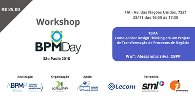 Workshop BPM Day São Paulo - COMO APLICAR DESIGN THINKING EM UM PROJETO DE TRANSFORMAÇÃO DE PROCESSOS DE NEGÓCIO