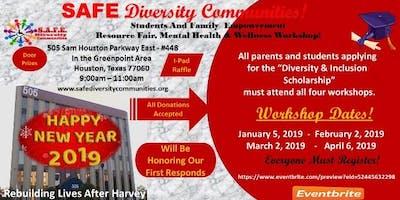 Resource Fair/Mental Health & Wellnes Workshop/Diversity & Inclusion Scholarship!