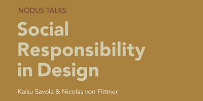 NODUS Talks: Social Responsibility in Design
