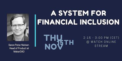 LIVESTREAM: A system for Financial Inclusion
