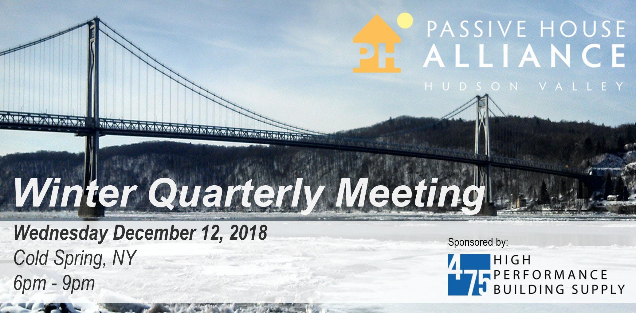 PHA-HV 2018 Winter Quarterly meeting
