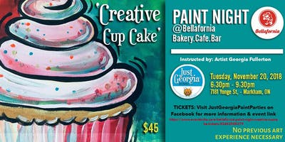 Bellafornia Paint Night -  Creative CupCake