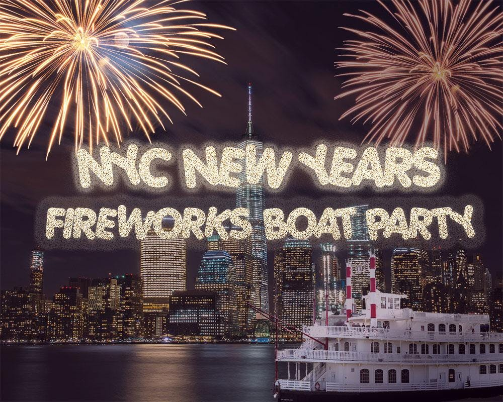 New York City New Year's Eve Fireworks Boat P
