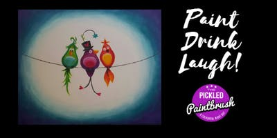Painting Class - Loopy Birds - December 6, 2018*