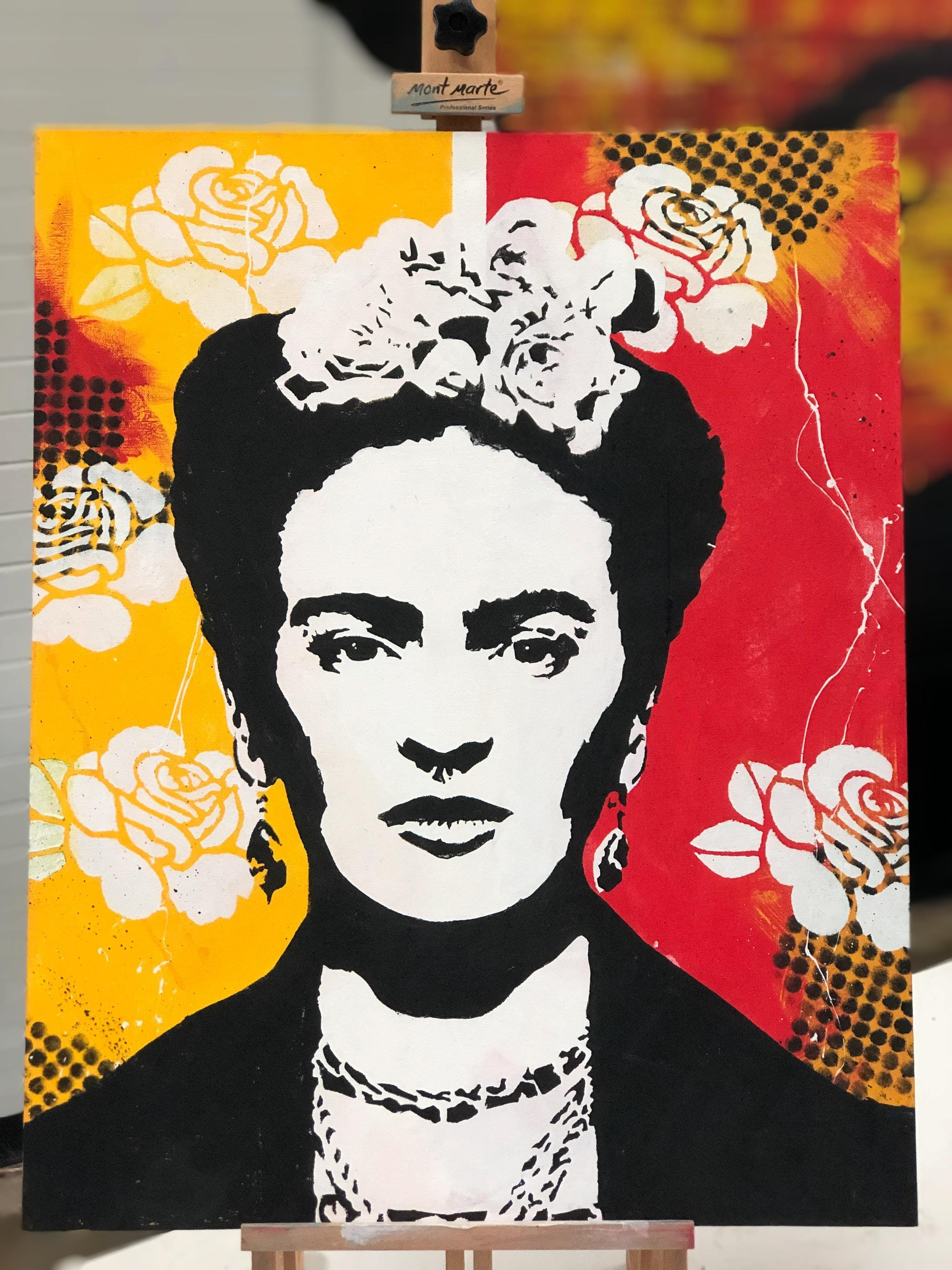 Frida Two Color Canvas Paint and Sip Brisbane
