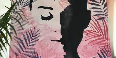 Face with Leaves Paint and Sip Brisbane 20/1/19