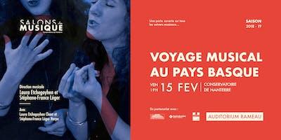 Voyage Musical au Pays Basque | Les Salons de Musique du Conservatoire de Nanterre