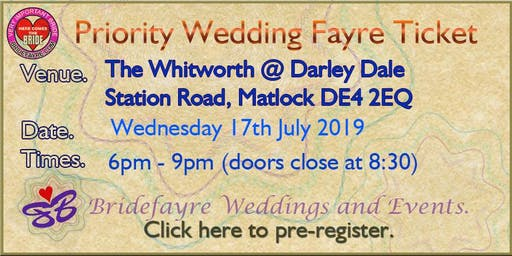 Darley Dale Evening Wedding Fare @ The Whitworth CANCELLED