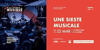 Une Sieste Musicale ? | Les Salons de Musique du Conservatoire de Nanterre