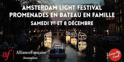 Amsterdam Light Festival - promenades en bateau en famille
