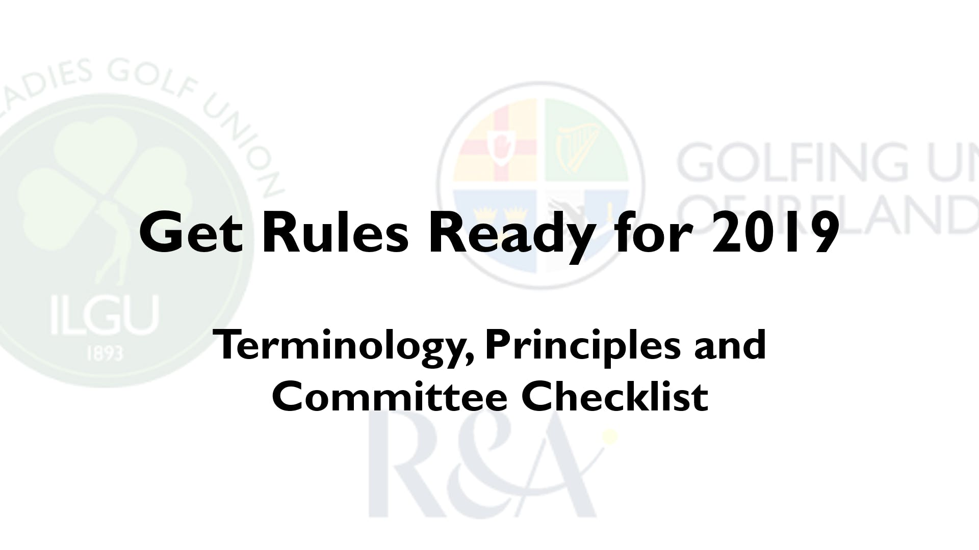 Rules Roadshow for Golf Committees